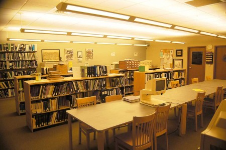 The genealogy room at the Butler Public Library