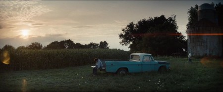 Man-of-Steel-Trailer-Images-Young-Clark-Kent-on-Kent-Farm-With-Pa-Kent-Kevin-Costner