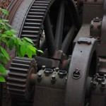 Close up of the gears and motors