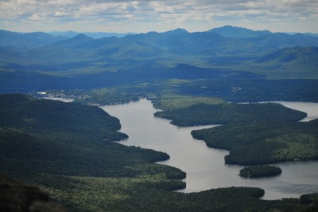 Lake Placid (the lake) and the town of Lake Placid to the upper left.