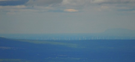Here's the wind farm cropped closer. It's up near Plattsburg, maybe 40 miles away.