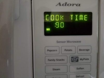 Photo of microwave screen.