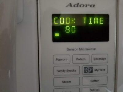 Photo of microwave screen.