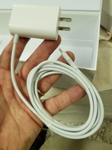 Photo of power supply cable.