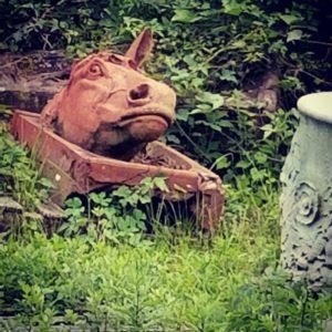 Terra cotta horse's head