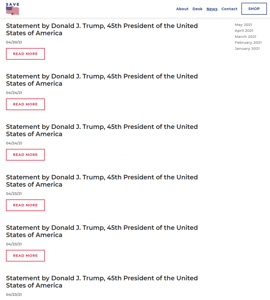 Web page screen cap